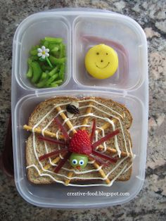 Creative Food: The Very Busy Spider Lunch