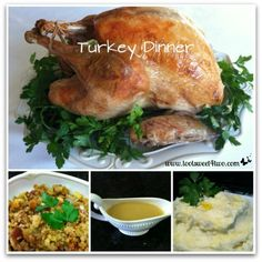 Roasted Turkey on a Platter _ Foil-wrapped turkey - moist and delicious plus lessens the cooking time by almost half!