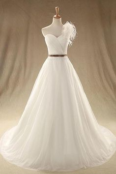 Simple One Shoulder Ivory Chiffon Sweetheart Pleats Ruching Lace Up Long Train Wedding Dress Floor Length Bridal Gown Long Evening Dress