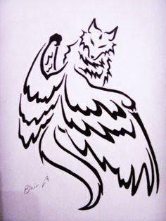 Tribal Wolf Tattoo Designs   Tribal Wolf by * tbp24289