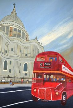 London Bus and Cathedral