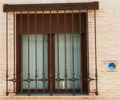 ventanas de madera con proteccion - Buscar con Google Window Protection, Burglar Bars, Window Grill, Grades, Spanish Style, Blinds, Windows, Curtains, Doors
