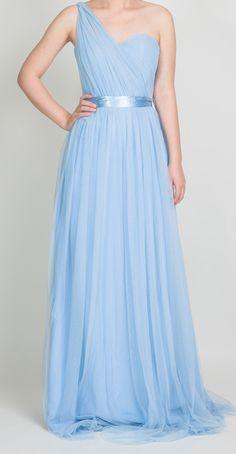 Tulle Convertible Medium Periwinkle Multi Bridesmaid Dresses