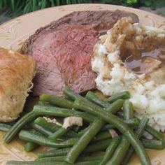 Herb Rubbed Sirloin Tip Roast. Did it. It was delicious and the gravy from it was MARVELOUS