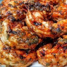 "Marinated Grilled Shrimp I ""OMG, this is hands-down the best shrimp i have ever tasted in my whole entire life."""