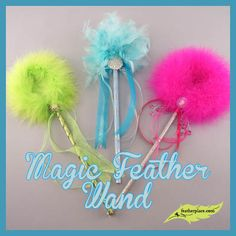 DIY Magic Feather Wands from The Feather Place  : Crafting with Feathers : #thefeatherplace #craftingwithfeathers #feathers #diyfeathercrafts