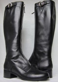 Proenza Schouler Black Leather Riding Boots Oi9803 Nero Sz 40