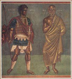 Αλέξανδρος και Φωκίων (1939) Τοιχογραφία στο Δημαρχείο Αθηνών