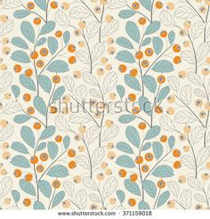 berries on a white background in seamless pattern