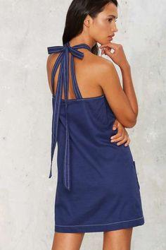 Left at the Halter Mini Dress