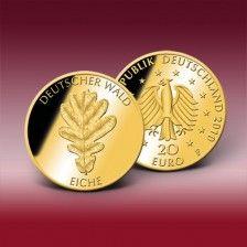 20 Euro Goldmünze  Deutschland  2010   Deutsche Eiche F