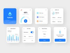 Hydration app for apple watch by Anurag Satpathy Moodboard App, Apple Web, Apple Watch Apps, Web Design, Dashboard Design, Web Inspiration, Ui Kit, Interactive Design, Mobile App