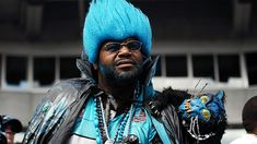 CHARLOTTE, NC - OCTOBER 28: A die hard fan of the Carolina Panthers watches the action against the Indianapolis Colts from the stands at Bank of America Stadium on October 28, 2007 in Charlotte, North Carolina. The Colts defeated the Panthers 31-7.