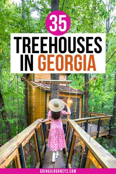 Discover the best Georgia treehouse rentals in the north Georgia mountains, Atlanta, Savannah, and more! These treehouses in Georgia are perfect for a weekend trip with friends or a romantic glamping getaway. | georgia treehouse airbnb | treehouse rentals in Atlanta | romantic treehouse rentals georgia | vrbo treehouse Georgia | treehouse rentals in georgia mountains | atlanta treehouse airbnb | tree houses for rent in Georgia | treehouse camping georgia | georgia treehouse hotel Best States To Visit, Usa Places To Visit, Visit Usa, Usa Travel Guide, Travel Usa, Travel Tips, Atlanta Travel, Treehouse Hotel, Us Road Trip