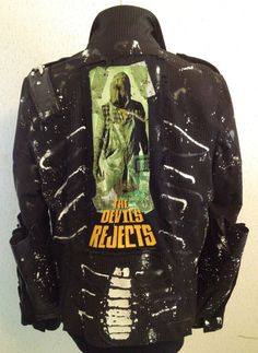 Rocker suit jacket by Chad Cherry from Chad Cherry Clothing. The Devil's Rejects, Punk Jackets, Battle Jacket, Halloween Ii, Custom Patches, Shape And Form, Death Metal, Fit Women, Motorcycle Jacket