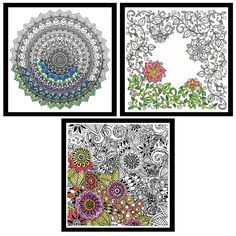 STAMPED, FREE-FORM EMBROIDERY bundle includes 3 Zenbroidery embroidery design kits in the 3 designs: Floral (4007), Mandala (4008), Garden (4011); ANY SKILL LEVEL, from beginner to expert, can complete these designs; beginners can learn new embroidery stitches; EMBROIDER or PAINT OR COLOR; Gift cards included