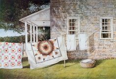 Quilts on Clothesline by Dan Campanelli