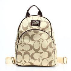 Coach Logo Monogram LZ701 Backpack In Apcicot