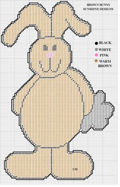BROWN BUNNY by SUNSHINE DESIGNS -- WALL HANGING