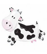 Large 30 inch Cow Mylar Balloon Cow Party by BalloonsAndMore