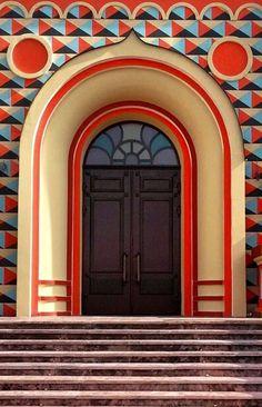 Фото узора на доме в ардеко стиле