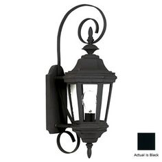 Kenroy Home�Estate 21-in Black Outdoor Wall Light   Lowes