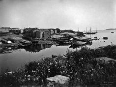 Munkkisaaren salmi (Matalasalmi).   Brander Signe HKM 1912   Helsingin kaupunginmuseo   negatiivi ja vedos, lasi paperi pahvi, mv