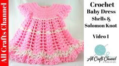 How to Crochet a Baby Dress -(Part 1 /  Subtitulos en español - Yolanda ...YT Video