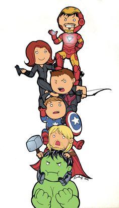Avengers Tower by *ShortieBat - Marvel Universe Avengers Drawings, Avengers Fan Art, Avengers Cartoon, Marvel Cartoons, Baby Avengers, Marvel Avengers Assemble, The Avengers, Marvel Art, Marvel Heroes