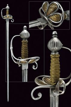 A composite rapier.    provenance:	 	Europe dating:	 	 16th Century