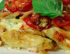 Zapiekanka makaronowa ze szpinakiem, łososiem, pomidorkami i pysznym sosem serowym  http://www.popularne.pl/zapiekanka-z-lososiem/