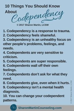 10 Things You Should Know About Codependency #codependency