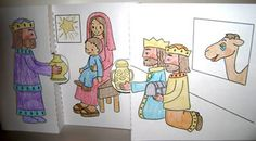 3D stand-up craft of Wise men bringing gifts to Jesus  I LOVE how it is Biblically accurate!  Score!