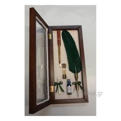 Πένα Μελάνης Φτερό με βάση και Χαρτοκόπτη