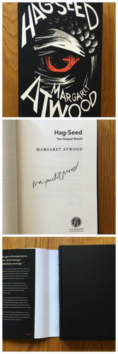 Hag-Seed signed by Margaret Atwood.