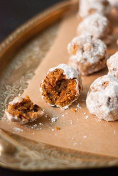 Simple whole wheat, vegan pumpkin pecan polvorones (also known as Mexican wedding cookies). The perfect sweet treat for fall festivities. Vegan Pumpkin, Pumpkin Recipes, Fall Recipes, Cookie Recipes, Dessert Recipes, Healthy Pumpkin, Pumpkin Bread, Drink Recipes, Pumpkin Spice