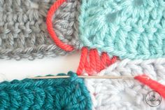 In this tutorial I am going to show you how to use Mattress Stitch to join your crochet motifs together with a perfectly invisible seam. This method is mostly used to join crochet squares or garments and honestly it isn't the . Joining Crochet Squares, Crochet Square Patterns, Crochet Patterns For Beginners, Crochet Motif, Hand Crochet, Crochet Stitches, Crochet Tutorials, Granny Squares, Moss Stitch