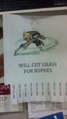 Now that spring is here its time to get a new lawn service - #LegendofZelda