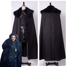 US $89.99 - 2016 High Quality GoT Game of Thrones Jon Snow Night's Watch Outfit Full Set Halloween Party Cosplay Costume For Adult Men Women