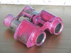 Vintage pink binoculars