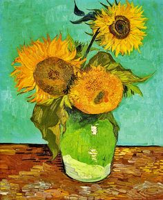 ♥ Sunflowers, Vincent van Gogh. 1888.