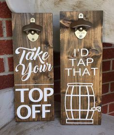 """5 Likes, 1 Comments - Tribe of 5 Designs (@tribeof5designs) on Instagram: """"#takeyourtopoff #idtapthat #beer #beeropener #customized #homedecor #woodensigns #farmhousedecor…"""""""