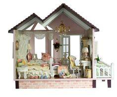 Miniature+Dream+House+DIY+KIT+Handmade+DIY+Miniature+DollHouse+Model+with+Music+