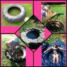 diy furniture made with old tires | Diy Tires Pinterest