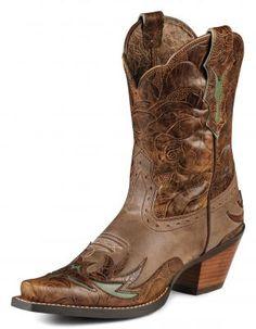 Womens Ariat Dahlia Dainty Boots Brown #10008781 via @Allens Boots