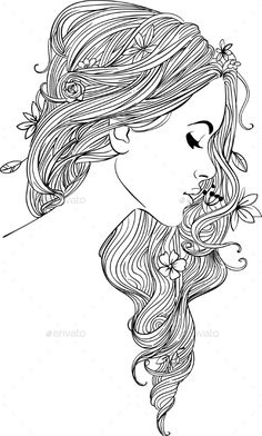 Coloring Pages Girls Face Free Printable Coloring Pages Cartoon Characters Coloring Book Art, Adult Coloring Book Pages, Cute Coloring Pages, Printable Adult Coloring Pages, Fairy Coloring, Drawing Sketches, Art Drawings, Arte Sketchbook, Bible Art