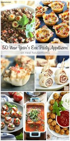 New Years Eve Snacks, New Years Eve Menu, New Year's Snacks, New Years Eve Dessert, New Years Eve Party Ideas Food, New Year's Eve Appetizers, New Years Dinner, Appetizer Recipes, Party Appetizers