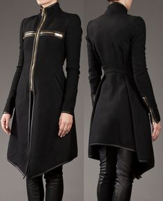 Gareth Pugh Zip Detail Coat, Fall/Winter 2011 Collection