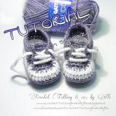 Crochet Tatting & co. by Ale: Scarpine da ginnastica a uncinetto