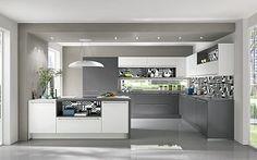 Keukenloods.nl - Barga #hoekkeuken  Deze moderne hoekkeuken bestaat uit twee…